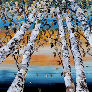 Birch Looking Up 40x60