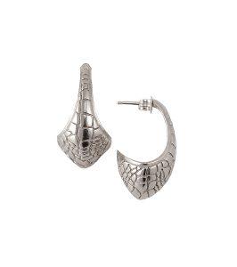 Silver Crocodile Earrings